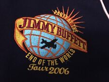 Jimmy Buffet Party At The End Of The World Tour 2006 Blue full zip sweatshirt Xl