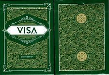 Visa Green Gold Playing Cards Poker Size Deck USPCC Custom Limited Edition New