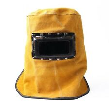New Lift Front Leather Welding Hood Helmet #Q4467 ZX