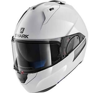 Shark Evo-One 2 Moto Bianco Tinta Unita Casco