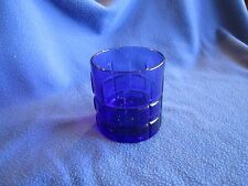 ANCHOR HOCKING - TARTAN COBALT BLUE 10 oz OLD FASHIONED GLASS