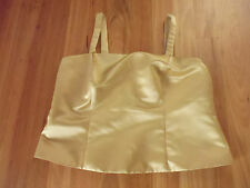 LADIES GORGEOUS GOLDEN SLEEVELESS LINED FORMAL TOP BY EVE HUNTER SIZE 18L CHEAP