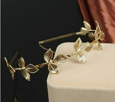 Fashion Women Metal Leaf Chain Jewelry Headband Head Piece Hair band Gift P68