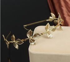 Fashion Women Metal Leaf Chain Jewelry Headband Head Piece Hair band Gift P68