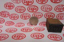 Vintage Esso Oil Printing Block Sign Gas Station Motor Oil Display Item