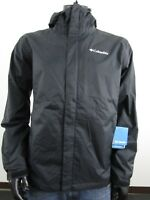 Mens Columbia S-M-L-XL-XXL Timber Pointe Waterproof Hooded Rain Jacket - Black