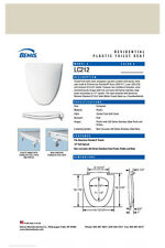 LC212-006 BONE Toilet Seat for American Stanard