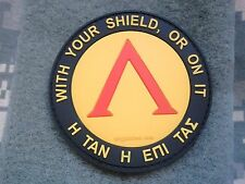 LAMBDA SPARTAN PATCH WITH YOUR SHIELD OR ON PVC RUBBER DEVGRU TACTICAL Hook Back