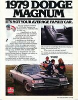 1978 Chrysler Corporation Ad for 1979 Dodge Magnum Not Your Average Family Car