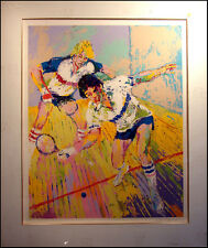 """LeRoy Neiman """"Racquetball"""" Hand Signed & Numbered Serigraph Sports Matted L@@K!"""