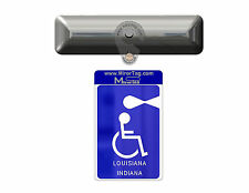 Indiana State Handicap Tag/Placard/Card Holder & Protector - ON & OFF in a Snap