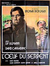 L'OEUF DU SERPENT * Ingmar BERGMAN * Liv ULLMANN * David CARRAINE * 120 x 160 cm