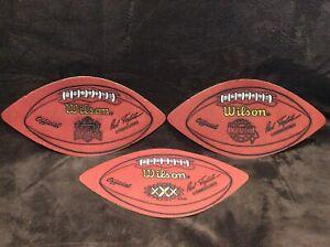 Dallas Cowboys SUPER BOWL WILSON LEATHER FOOTBALL DISPLAY Lot XXX XXXVII XXXVIII