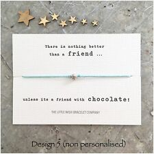 FRIENDS Wish Bracelet With CUTE QUOTES Friendship Best Friends Gift