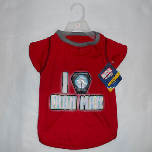 Iron Man Dog Pet T-Shirt Large 17-19in Petco Marvel Pet Fans Collection Red