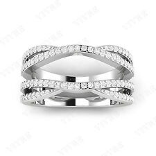 14K WHITE GOLD SOLITAIRE ENHANCER 1.00 CT DIAMOND RING GUARD WRAP WEDDING BAND