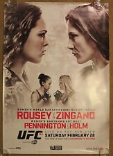 Official UFC 184A Ronda Rousey vs Zingano Poster 27x39