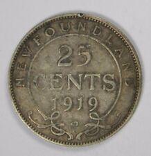1919-C NEWFOUNDLAND CANADA 20 CENTS - SILVER! CLASSIC! INV#B122