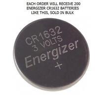 200 ENERGIZER 3V LITHIUM CR1632 ECR1632 BATTERY IN BULK CR-1632 BUTTON BATTERIES