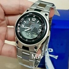 New Casio AW-80D-1A2 Sports Analog Digital Databank World Time Alarm Men's Watch