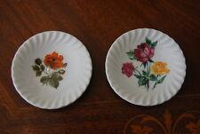 Nice Old Pair Schwarzenhammer Bavaria Flower Decorated Miniature Salt Plates #1