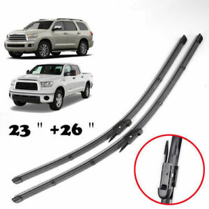 """26""""+23"""" Front Windshield Wiper Blades Fit Toyota Tundra Sequoia 2007-2016 2017"""