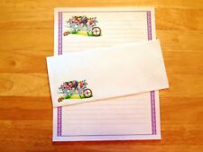 Wheelbarrow Bouquet Stationery Writing Set With Envelopes - Lined Stationary