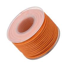 1.5mm Round Waxed Cotton Jewellery Bead Cord Orange 10 metre Spool (M66/2)