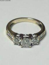 .92CT NATURAL ROUND CUT DIAMOND ENGAGEMENT RING 14K YELLOW GOLD--SIZE 7.25