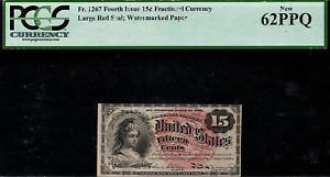 Fr-1267 $0.15 Fourth Issue Fractional Currency - 15 Cent - PCGS 62PPQ