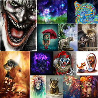 Full Drill 5D DIY Clown Diamond Painting Embroidery Cross Stitch Kits Home Decor