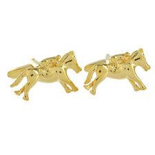 Vergoldet Pferd & Jockey Manschettenknöpfe grand national rennen AJ449