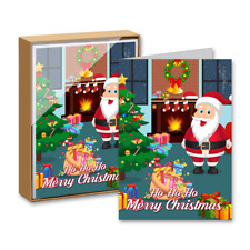 15 Greeting Cards and 15 Envelopes 'Ho Ho Ho Merry Christmas'