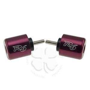 Handle Bar End CNC R6 Engraved VAR For Yamaha YZF 06-19 R1 Slug Weight Slider