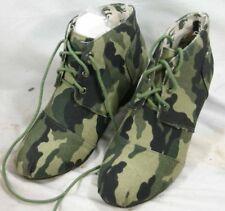 Ladies YOKI Camouflage Fabric Boots - Sz 5