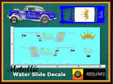 1/64 '55 Chevy The QUEEN Gasser' CUSTOM METALLIC Decal SCR-0227