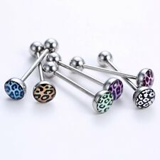 Wholesale 6 Pcs Multi New Tongue Bars Neon Glitter Barbell Stainless Steel Pin