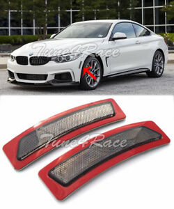 For 14-Up BMW 4-Series F32 F33 F36 Bumper Reflector Smoke Side Marker Light Lamp