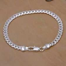 925 Silver Plated Fashion Jewelry 5 mm Chain Bracelet.