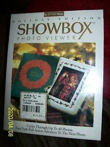NEW IN BOX Showbox Photo Viewer Holiday Edition Burnes of Boston Photo Album