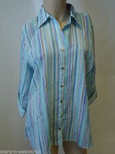 Marks and Spencer Fitted Striped Classic Collar Women's Tops & Shirts