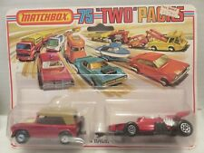 Matchbox Lesney Two Packs Red Field Car Racing Car Die-Cast Metal England TP-9