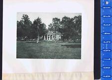 Monticello, Thomas Jefferson's Home c1890, Virginia -  1893 Photogravure