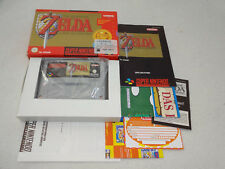 The Legend of Zelda a Link to the Past SNES juego completo con embalaje original y guía