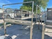 Stainless Work Platform With Selector Table Used 7ft5in Wide X 18ft Long