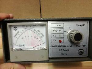 ROSMETRO SWR POWER METER ZETAGI MOD. 430 PER VHF CON ISTRUZIONI