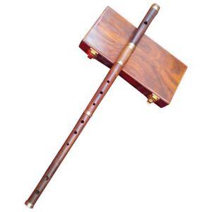 Professional Irish D Flute Rosewood Natural Finish + Wooden Hard Case/D Flute