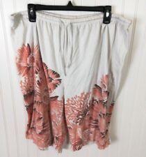 Coral Bay Plus Size 1X Casual Floral Shorts cotton blend mi3