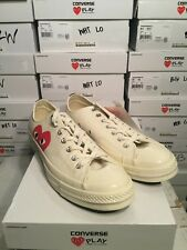 CONVERSE X COMME DES GARCONS PLAY Chuck Taylor 70 Low White Mens Sz 3-11 150207C