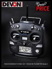 Radiocomando Futaba 12K ricevente R3008SB TELEMETRIA Mode 2 Elicottero Elettrico